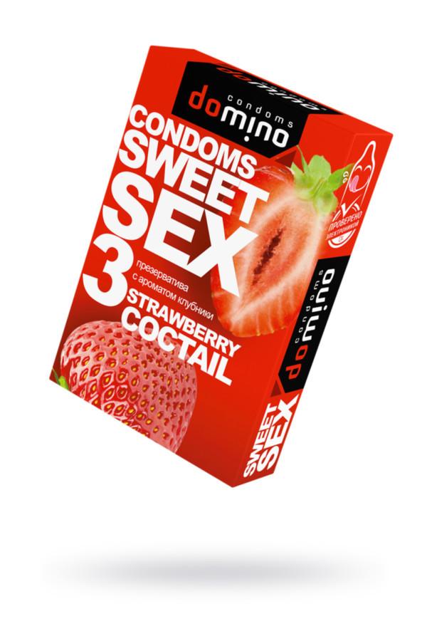 Презервативы Luxe DOMINO  SWEETSEX, клубника  №3, Категория - Презервативы/Классические презервативы, Атрикул 0T-00015976 Изображение 1