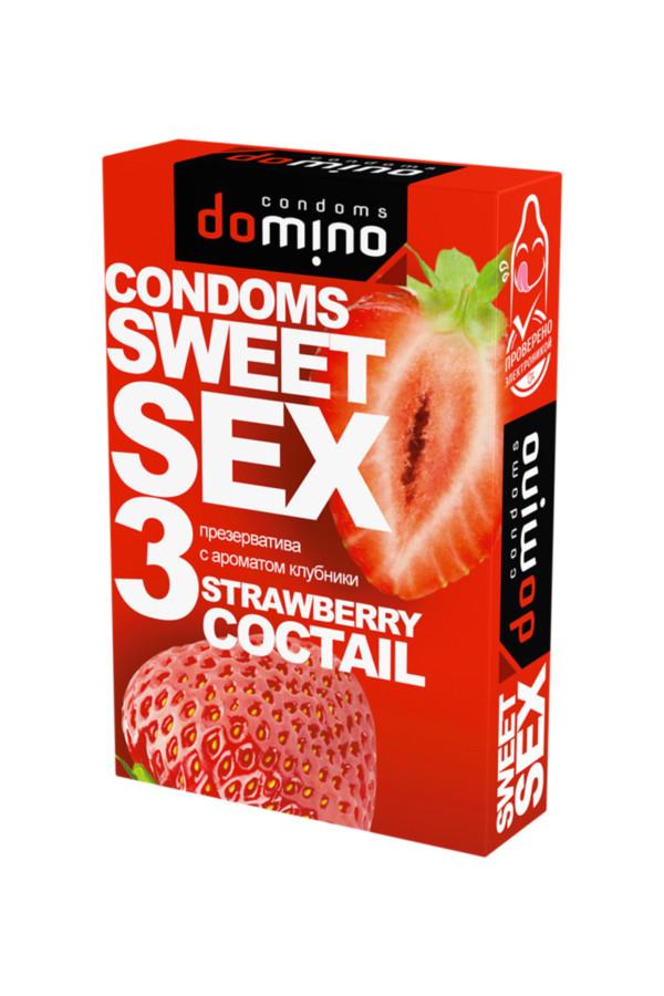 Презервативы Luxe DOMINO  SWEETSEX, клубника  №3, Категория - Презервативы/Классические презервативы, Атрикул 0T-00015976 Изображение 2