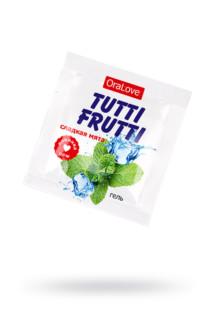 Съедобная гель-смазка TUTTI-FRUTTI для орального секса со вкусом сладкой мяты 4г по 20 шт в упаковке, Категория - Гели, смазки и лубриканты/Съедобные гели и смазки, Атрикул 0T-00016002 Изображение 1